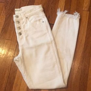 """Madewell 10"""" High-Rise Button-Fly Skinny Crop"""